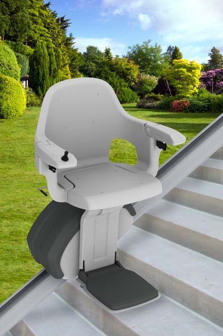 Silla salvaescaleras recta levante exterior for Silla sube escaleras manual