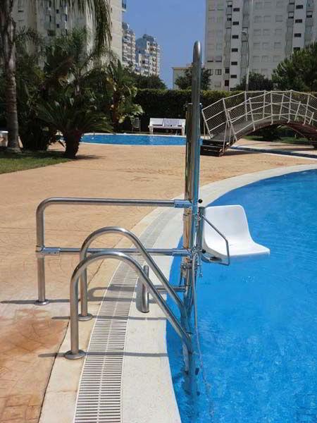 Sube escaleras de piscina para discapacitados for Silla escalera plegable planos